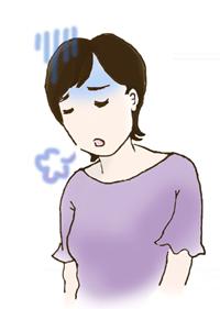がっかりする女性のイラスト